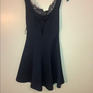 navy semi formal dress